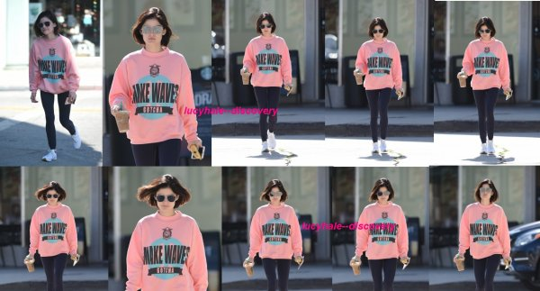 le 9 juin 2017 - la belle lucy à été vus à la Picks up a coffee à los angeles