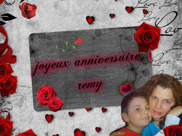 (l) magnifique kdo reçu de mon amie lydie et yoyo pour anniversaire de mon petit remy je vous adores jojo (l)