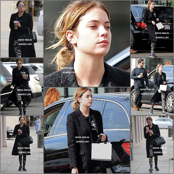 -- 22/01/2016: Ashley Benson à était vu avec Izak Rappaport, avec un café à la main, à Los Angeles. --
