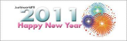 JustinworldFR vous souhaite une très Bonne Année 2011! Je vous souhaite tout le bonheur du monde,beaucoup de rire et que Dieu vous bénissent vous et votre famille.