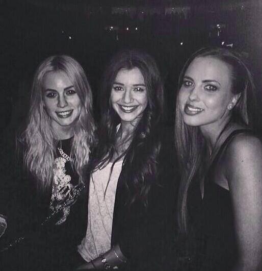 Gemma, El' et Sophia hier soir.