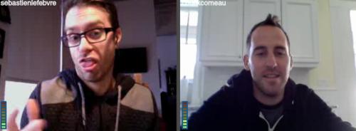 Photos de Chuck Comeau et Sebastien Lefebvre LiveStream