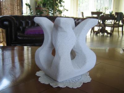 ma sculpture en beton cellulaire fifi1965. Black Bedroom Furniture Sets. Home Design Ideas