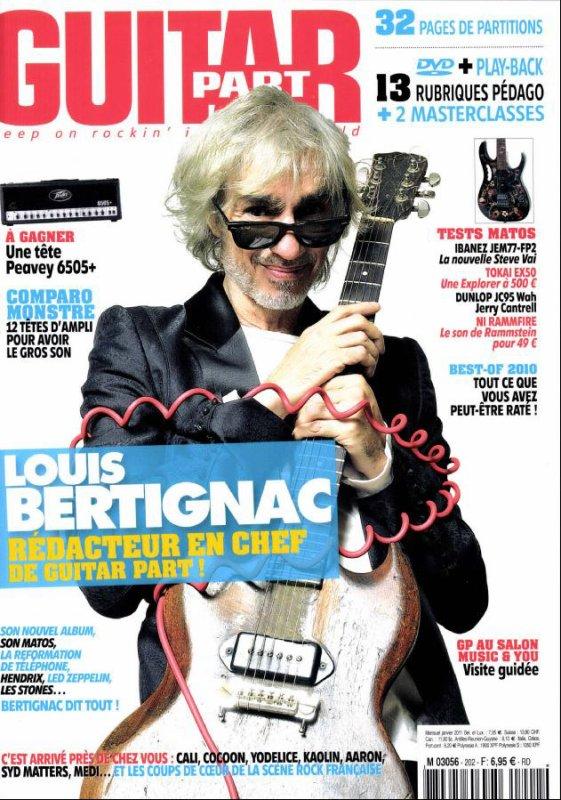 """01/2011 : Louis rédacteur en chef de """"Guitar Part"""""""