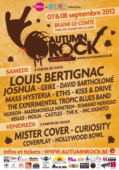 07 et 08 /09/2012: Festival Autumn rock (racontez si vous y étiez)