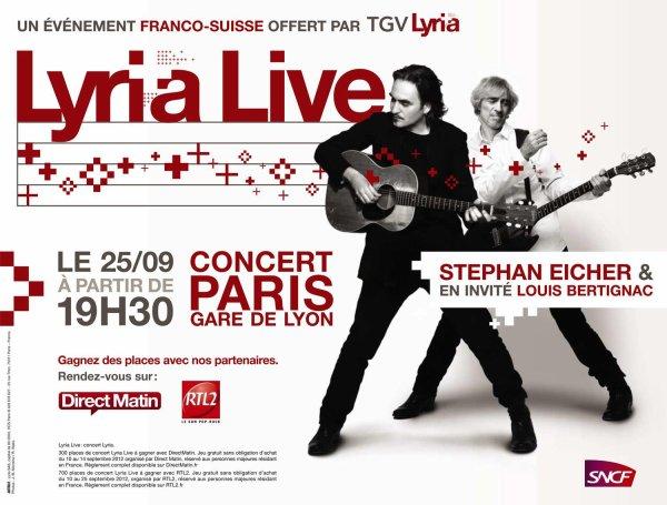 25/09/2012 : Concert de Stéphane Eicher avec Louis en invité