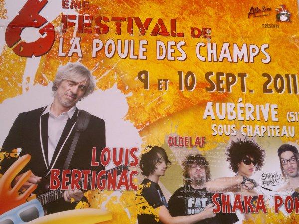 """09 et 10/09/2011 : Festival """"La poule des champs"""""""