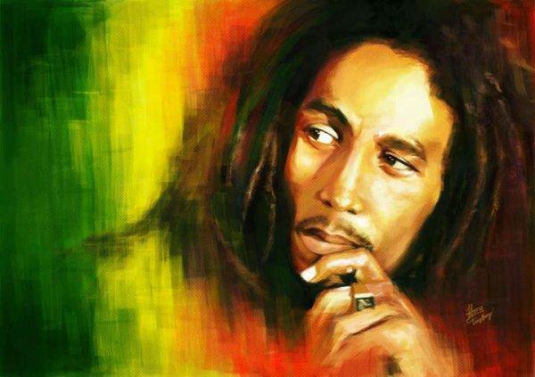 Fait comme Bob Marley Keep calme and smoke week