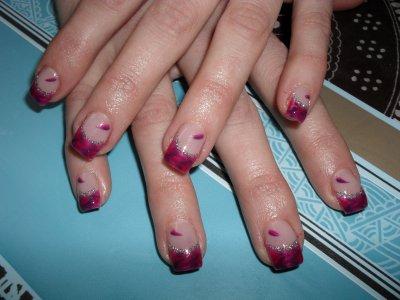 Marbré, rose et violet