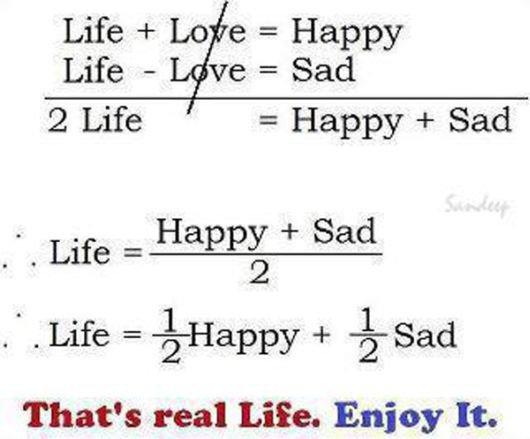L'équation de la vie...