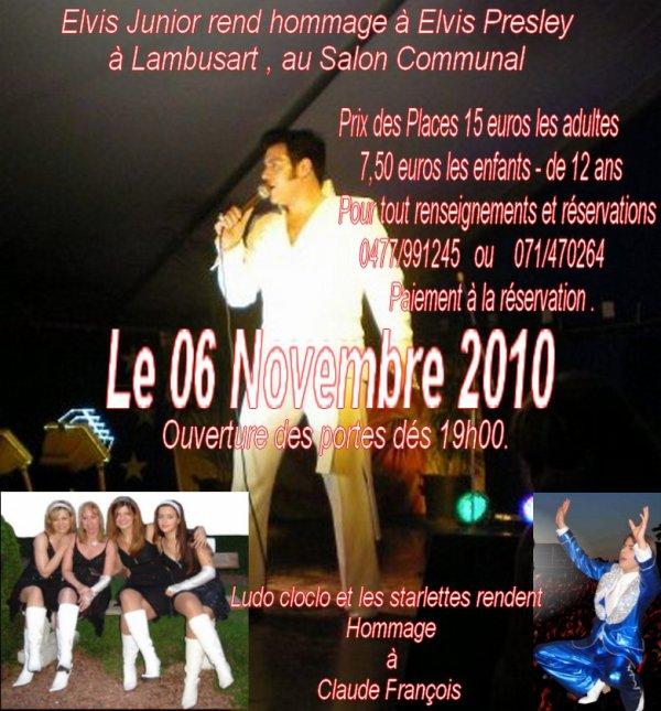Affiche de la soirée du 06 Novembre 2010 .....