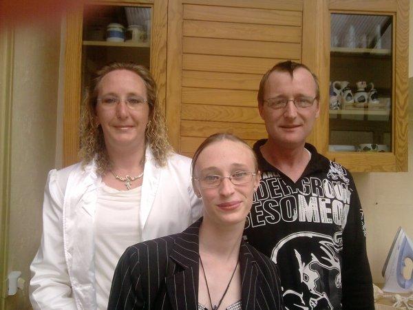 ma mère ,mon père et ma soeur