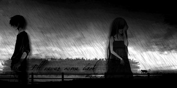 One Shot ~N'a rien à voir avec la fiction.   »  I'll never come back.