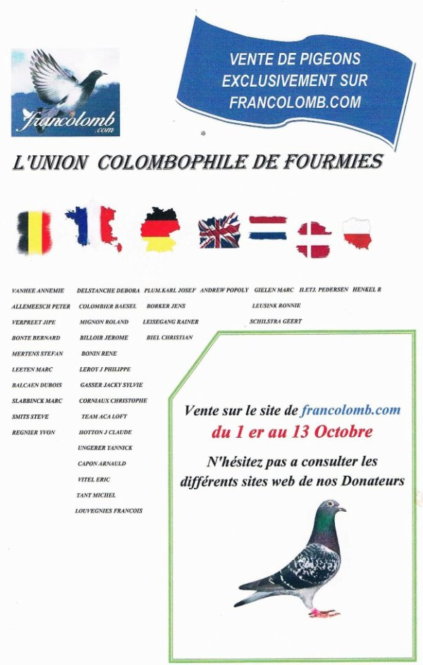 Vente Francolomb.com ( Union de Fourmies )
