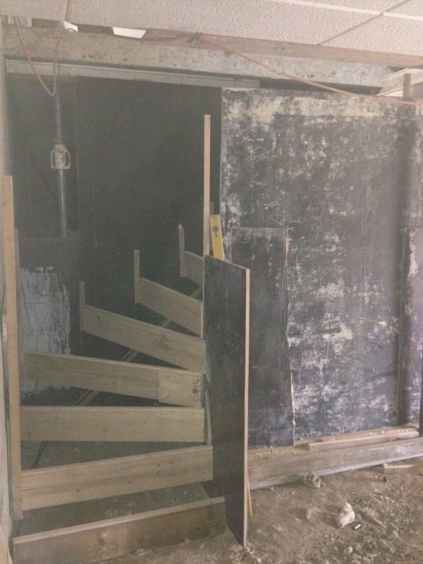 Coffrage de l 39 escalier en b ton faire batir avec mikit - Coffrage escalier beton ...