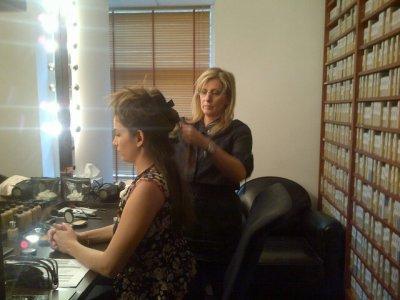 Laurie Samama chez le coiffeur