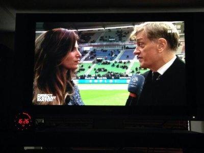 Laurie Samama avec le Président de Rennes