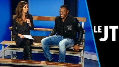Laurie Samama avec Mandanda en tribune