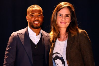 Laurie Samama avec Patrice Evra