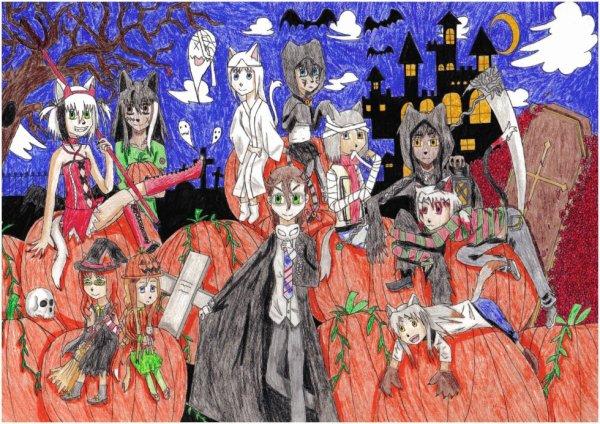 Dessin Halloween fait par moi