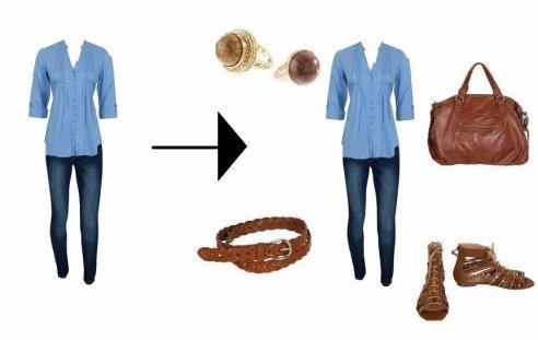Accèssoiriser une tenue simple