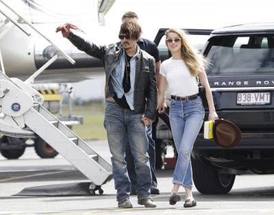 "Johnny Depp et Amber Heard sur tournage de ""Pirates des Caraïbes 5''"
