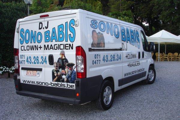 SONO BABIS C'EST DEUX CAMIONNETTES VISIBLES CAR INDEPENDANT A VOTRE SERVICE