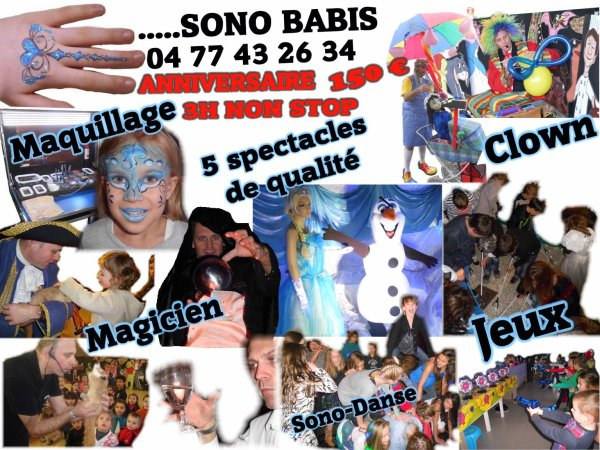 CLOWN MAGICIEN ANIMATEUR SONO BABIS  0477432634  SONOBABIS@SKYNET.BE