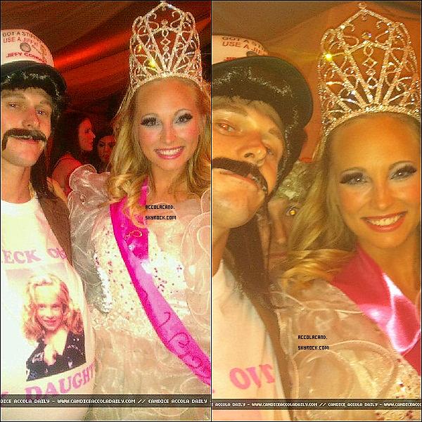 La belle Candice à fêté Halloween avec ses co-stars, voici quelques photos !