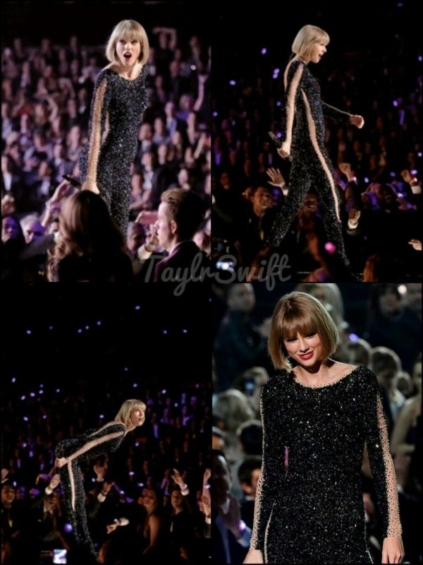 "Pendant les Grammy Awards 2016 Taylor a chanter son nouveau clip ""Out of the woods"" personnellement j'adore ce clip et cette tenue Wow, un Top est accordé♥"
