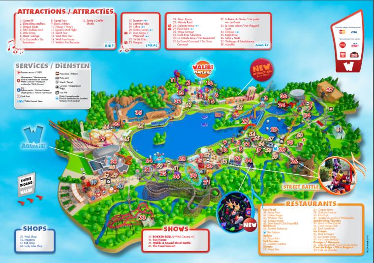 Plan du parc (Walibi Belgium)