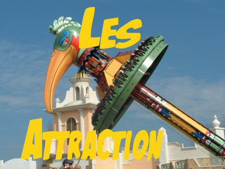 Les attraction de Bellewaerde Park