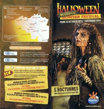 Halloween Monster Festival 2010 à Walibi Belgium