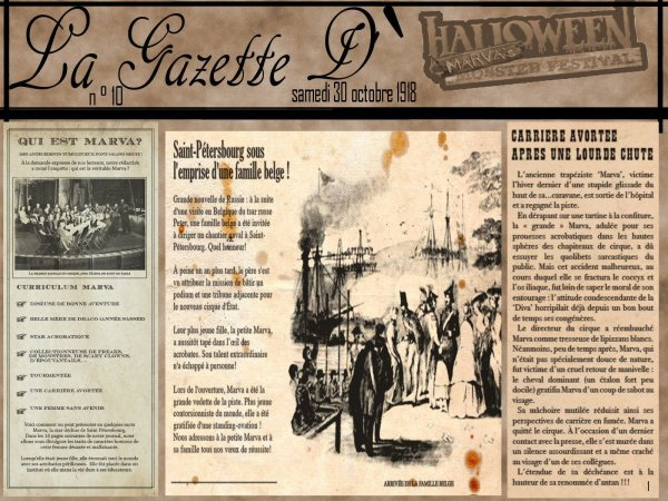 La Gazette d'halloween Marva Monsters festival (Partie 1)
