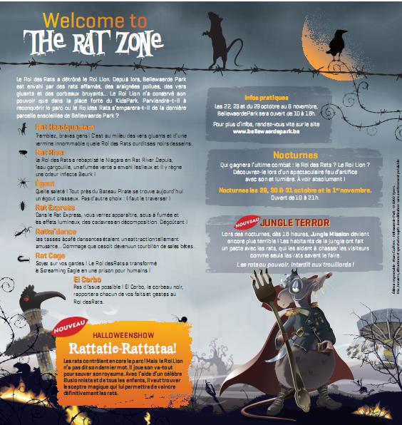 Halloween rat attack a Bellewaerde Park !