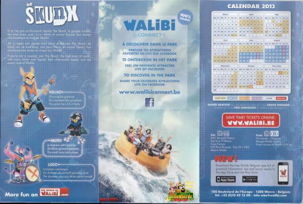 La Brochure 2013 de Walibi Belgium