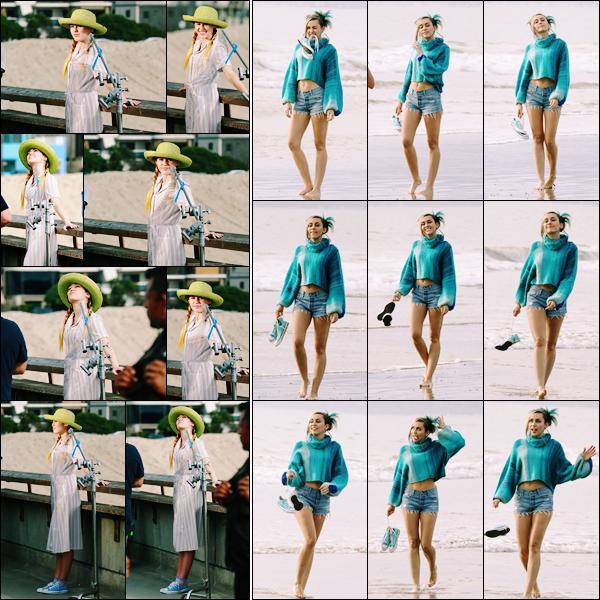 .  16 NOVEMBRE 2017..•..   Miley Cyrus   était en plein shoot pour la marque  «  Converse » à Venice Beach. .