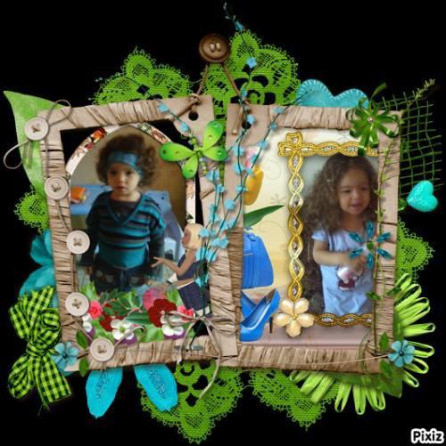 ma creation!!!!!!!!!!!!mes petites filles!assia et ines!!!!!!!!!!!!!!!