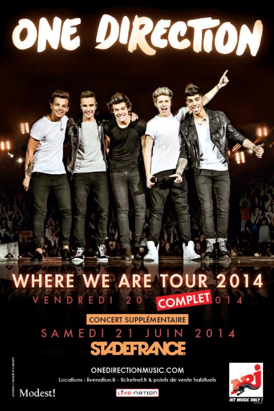 Article spécial pour le Where We Are Tour du 20 juin 2014 au Stade de France
