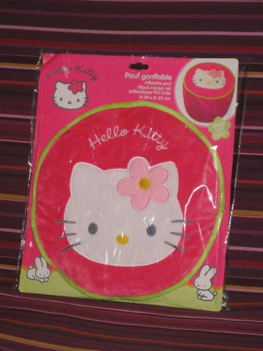 Pouf gonflable Hello Kitty