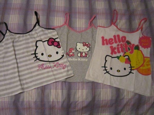 Lot de 3 débardeurs Hello Kitty