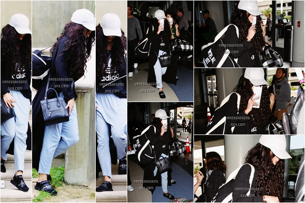 07/04/16 : Vanessa a été vue sortant de chez elle puis se rendant à l'aéroport de LAX avec Stella, sa soeur, LA. Un gros flop pour moi, une tenue sportive et très moche à mon goût bien sur, après elle va prendre l'avion donc ça se comprend.