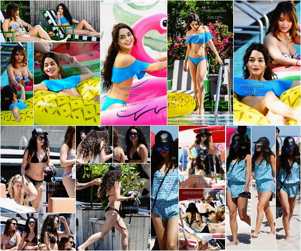 08/04/16 : Vanessa et Stella se sont baignée à la piscine de leur hôtel , ont été sur un bateau puis à la plage à Miami. Elles sont superbes toutes les deux, elles ont l'air de bien s'amusé, leurs maillots de bain sont super jolies, beau top à elles.