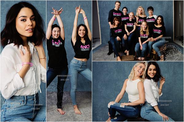 """PHOTOSHOOT : Vanessa a réalisée un beau photoshoot  avec Julianne Hough pour la campagne de """"Dancer's against Cancer"""", il a été fait par Stephen Busken pour le magasine People Magazine."""