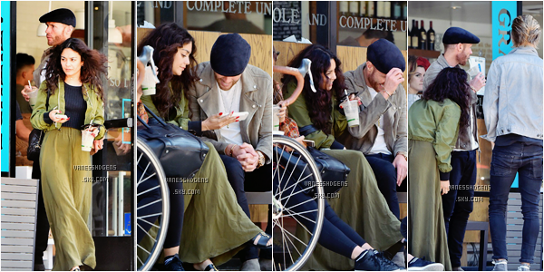 23/05/16 : Vanessa, était à la station service, dans Hollywood puis au café Gratitude avec des amis et sa soeur. J'adore sa tenue, encore un beau top de notre belle Vanessa, comme toujours, j'adore ses mocassins et sa veste kaki!