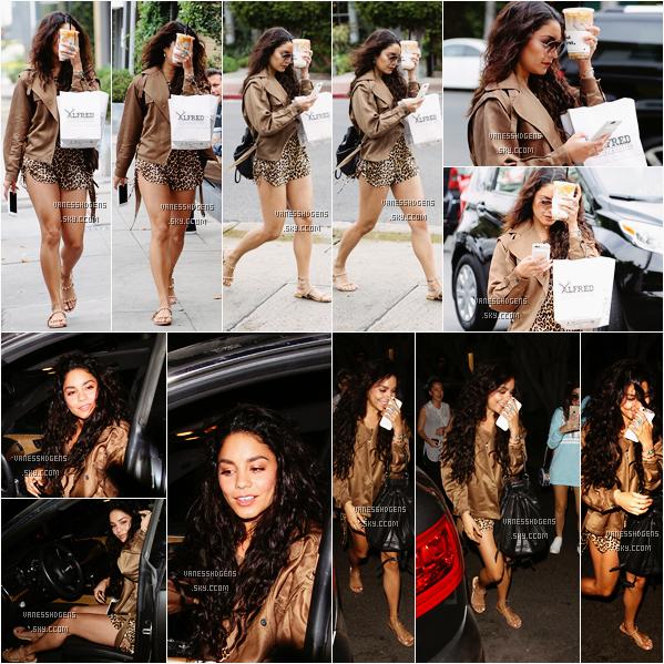 09/06/16 : Vanessa est aller à Alfred Coffee + Kitchen puis au salon Nine Zero One, West Hollywood. Un peu plus tôt dans la journée, elle est aller à Breakroom Cafe dans Studio City, un top pour la 1ère tenue, bof pour la 2ème.