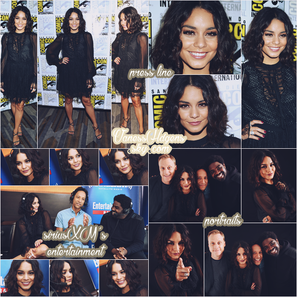 22/07/16 : Vanessa s'est rendue au Comic-Con de sa série Powerless avec ses co-stars, San Diego. Sa robe est juste magnifique, j'adore, elle est pleine de détails, c'est un très très beau top pou ma part.