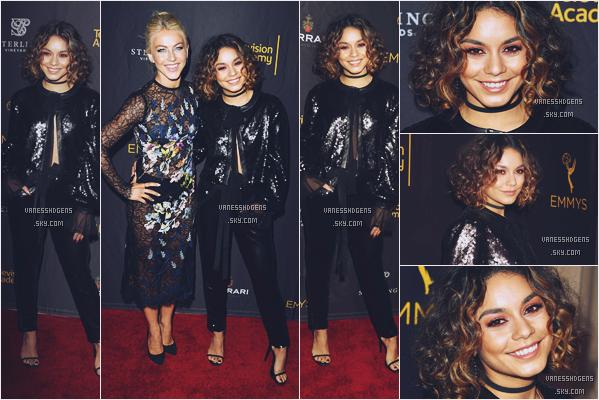08/09/16 : Vanessa Hudgens s'est rendue à l'événement Casting&Music nominées au Montage Hotel, Beverly Hills. C'est une tenue toute en noire que V portait, j'aime beaucoup, il y a pas mal de détails et ça lui va très bien, beau top.