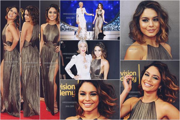 11/09/16 : Vaness était à la soirée Creative Arts Emmy Awards, Beverly Hills. Elle arbore une robe juste magnifique à mes yeux ! J'aime beaucoup son look complet, elle fait un très très beau top.