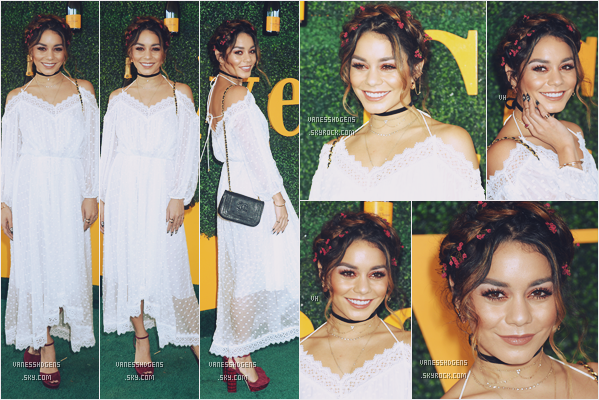 15/10/16 : Mlle Hudgens était au 7th  Annual Veuve Clicquot Polo à Pacific Palisades.  Très belle tenue, sa robe lui va à ravir, j'adore sa mise en beauté! Ses fleurs dans les cheveux accordées à ses chaussure top.